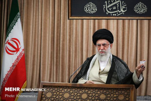 الخطاب التلفزيوني لقائد الثورة الإسلامية/ بالصور