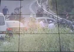 تصادف ۸ خودرو در بزرگراه مدرس/ یک نفر مجروح شد