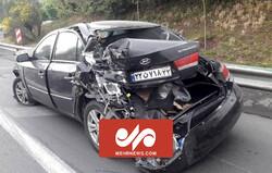تصادف زنجیره ای شدید در اتوبان مدرس تهران