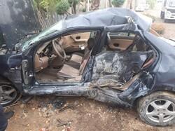 یک نفر بهدلیل واژگونی خودرو در اصفهان مصدوم شد