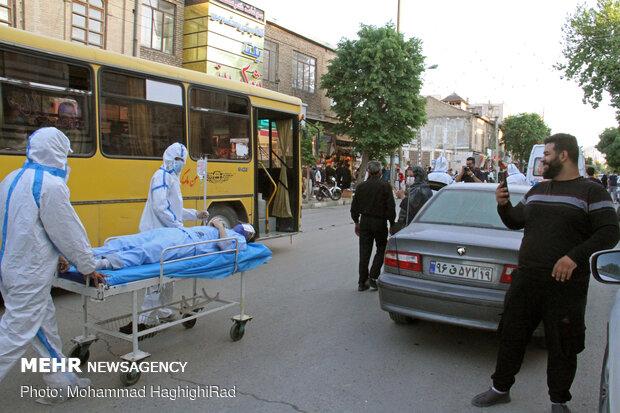 کارناوال هشدار به شهروندان کرمانشاهی برای وضعیت کرونایی