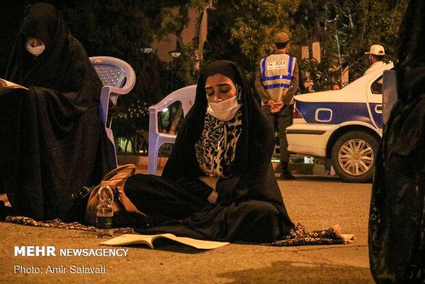 احیای شب بیست و یکم ماه رمضان در مسجد عابدینیه سمنان