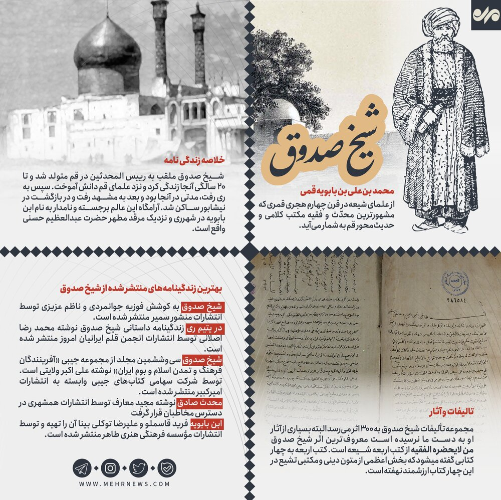 ۱۵ اردیبهشت روز بزرگداشت شیخ صدوق