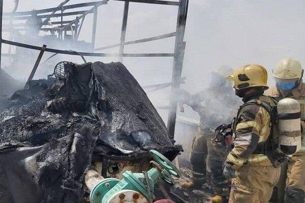 آتش سوزی در خیابان کارگر جنوبی/ خسارت مالی گسترده