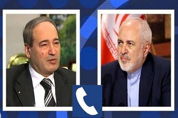 گفتگوی تلفنی ظریف و وزیر خارجه سوریه