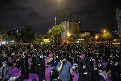 احیای شب بیست و سوم ماه رمضان در میدان فلسطین
