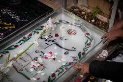 برگزاری دعای عرفه مجاور مزار شهید سلیمانی