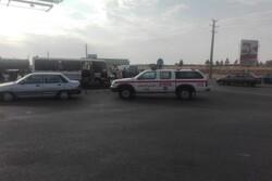 مصدومان حادثه برخورد مینی بوس به گاردریل در فشافویه به ۱۴نفر رسید
