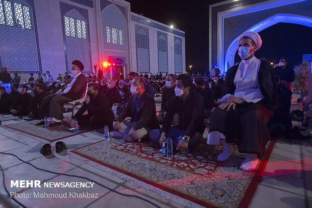 مراسم احیای شب بیست و سوم ماه مبارک رمضان در جزیره کیش