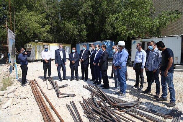 اجرای ساختمان دانشکده کسب و کار دانشگاه خلیج فارس بوشهر آغاز شد