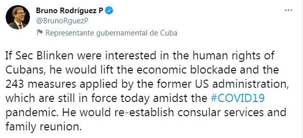 کوبا حمایت از حقوقبشر توسط آمریکا را به چالش کشید