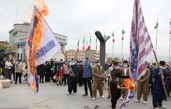 آتش زدن پرچم رژیم صهیونیستی توسط مرزداران کردستانی