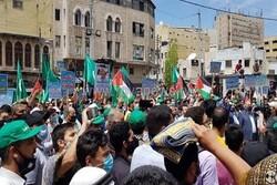 راهپیمایی هزاران اردنی در محکومیت جنایات تل آویو در «شیخ جراح»
