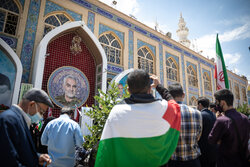 شہید سلیمانی کے مزار پر عالمی یوم قدس کی تقریب منعقد