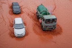 وضعیت تبریز بعد از بارندگی شدید امروز
