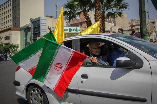 پاسداشت روز قدس در میدان فلسطین تهران