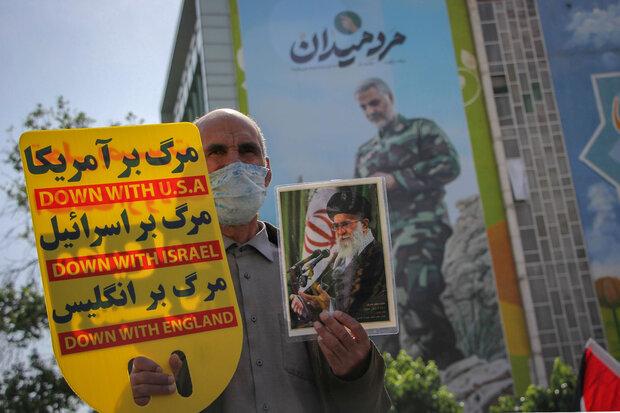 Tebriz'de Kudüs Günü gösterileri düzenlendi