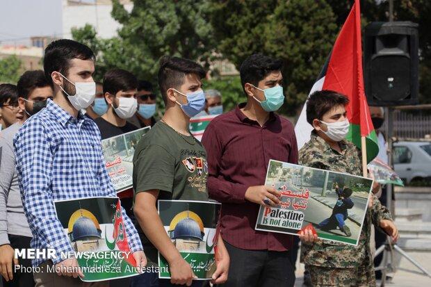 آسمان ورامین با به آتش کشیدن پرچم صهیونیسم سرخ شد