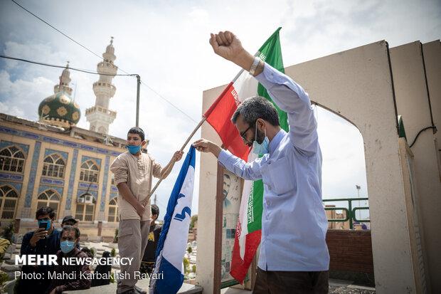 روز جهانی قدس در جوار مرقد شهید سردار سلیمانی