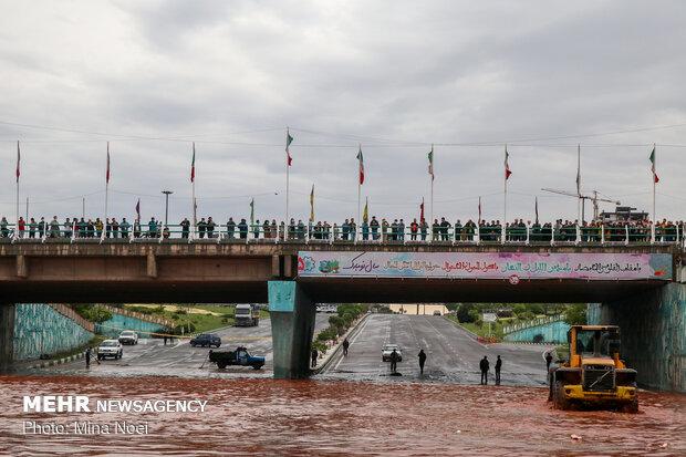وضعیت تبریز بعد از بارندگی شدید