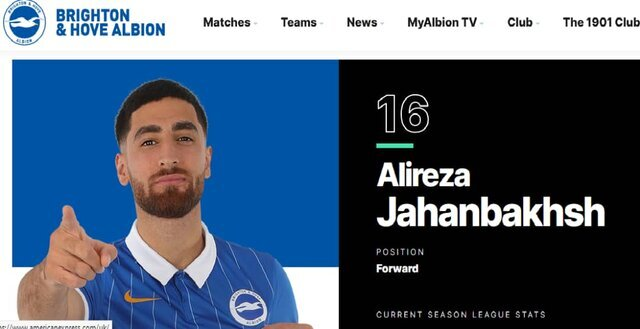 UK club removes flag from Iranian footballer's pic on website