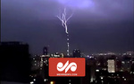 VIDEO: Lightning strikes Milad Tower in Tehran