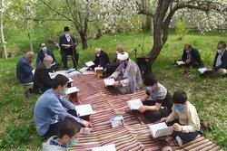 پیوند قرآن و طبیعت به سبک نوآوری/باغی قرآنی که نشان از بهشت دارد