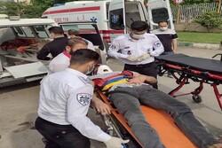 واژگونی خودروی تیبا در کرمانشاه ۲ مصدوم به جای گذاشت