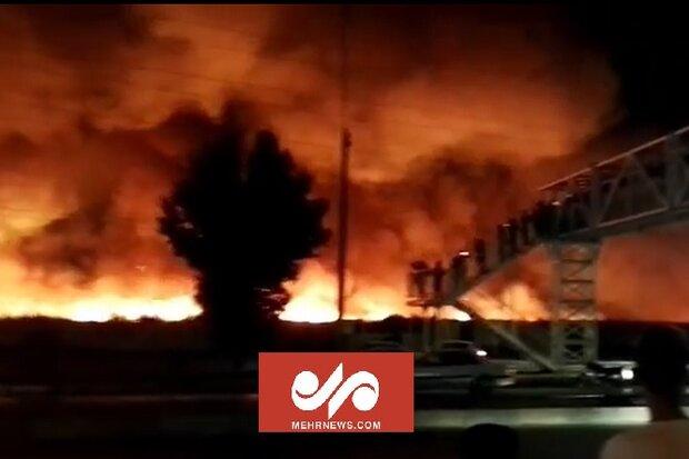آتشسوزی گسترده در ورودی بوشهر