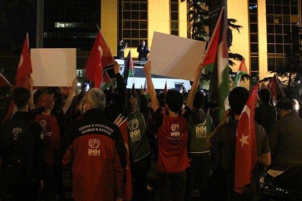 İstanbul'da İsrail karşıtı protesto gösterisi