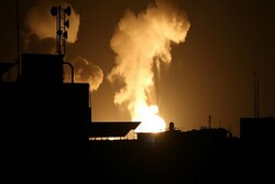 Zionist regime launches airstrikes in southern Gaza Strip