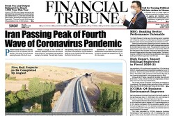 Front pages of Iran's English dailies on May 9