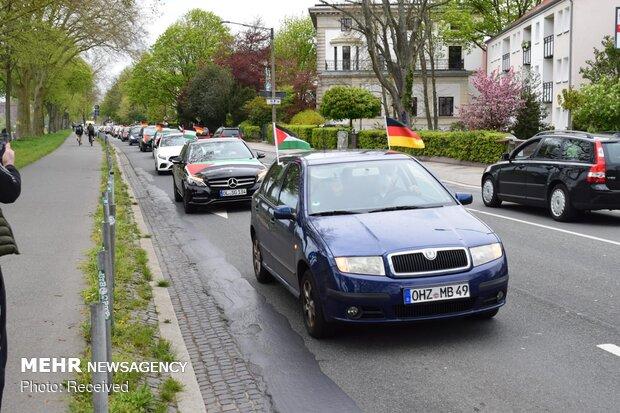 """Almanya'da """"Kudüs Günü"""" için araba yürüyüşü"""