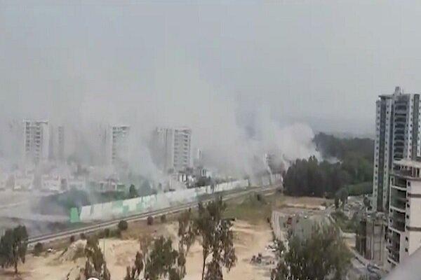 VIDEO: Fire breaks out near Israeli military site in Haifa