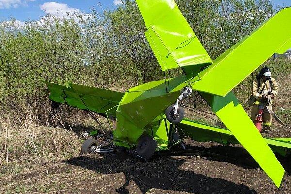 دو کشته و زخمی در پی سقوط هواپیمای شخصی در روسیه