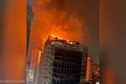 اندلاع حريق هائل في فندق كبير بمصر