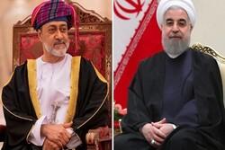 الرئيس الايراني يتلقى برقية تهنئة من سلطان عمان بمناسبة عيد الفطر المبارك