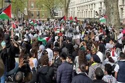 تظاهرات مردم کرانه باختری در حمایت از مسجدالاقصی و قدس
