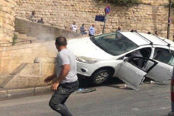 شهرکنشین صهیونیست چند شهروند فلسطینی را با خودرو زیر گرفت