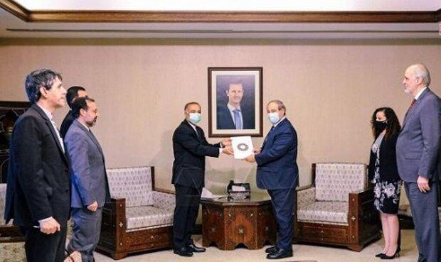 السفير الإيراني الجديد يلتقي وزير الخارجية السوري