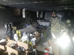 آتش سوزی در پامنار/ نجات یک جوان ۳۵ ساله