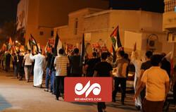 بحرینی عوام کا فلسطین اور بیت المقدس کی حمایت میں مظاہرہ