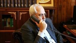 ظريف يؤكد للنخّالة مواصلة إيران دعمها للشعب الفلسطيني والمقاومة