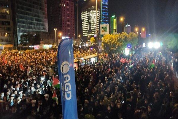 İstanbul'da Kudüs ve Mescid-i Aksa'ya destek gösterisi