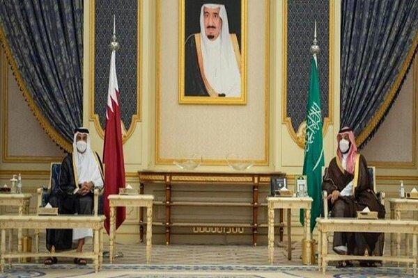 امیر قطر با «محمد بن سلمان» دیدار کرد