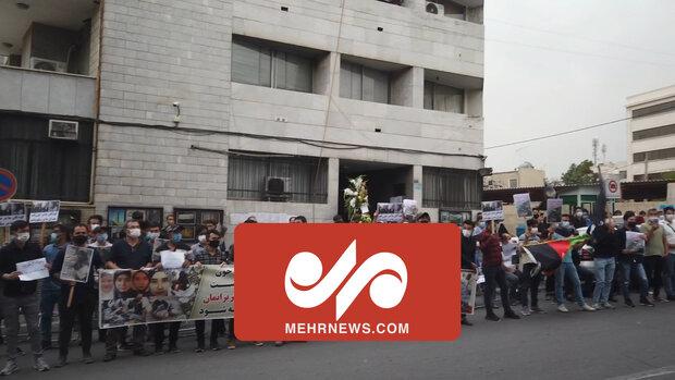 تہران میں افغان سفارتخانہ کے سامنے عوام کا اجتماع / افغان عوام کے ساتھ ہمدردی کا اظہار