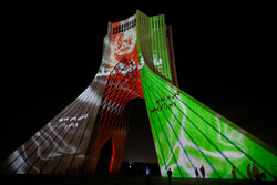 Videomapping on memorial of victims of Kabul terrorist attack