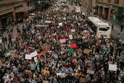 حامیان فلسطین در نیویورک تجمع کردند/ خشونت گروه های صهیونست