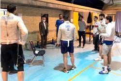 سرپرست کاروان ورزش ایران از اردوی شمشیربازی بازدید کرد
