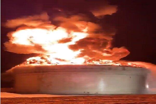 استهداف نوعي ودقيق لمراكز خزن الوقود جنوب عسقلان المحتلة